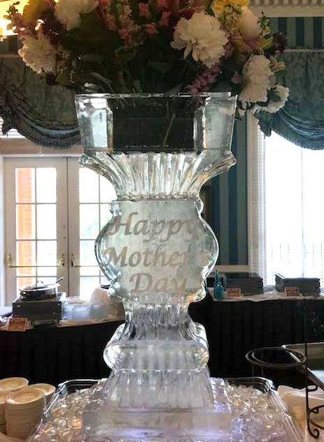 Mother's Day Ice Sculpture Vase