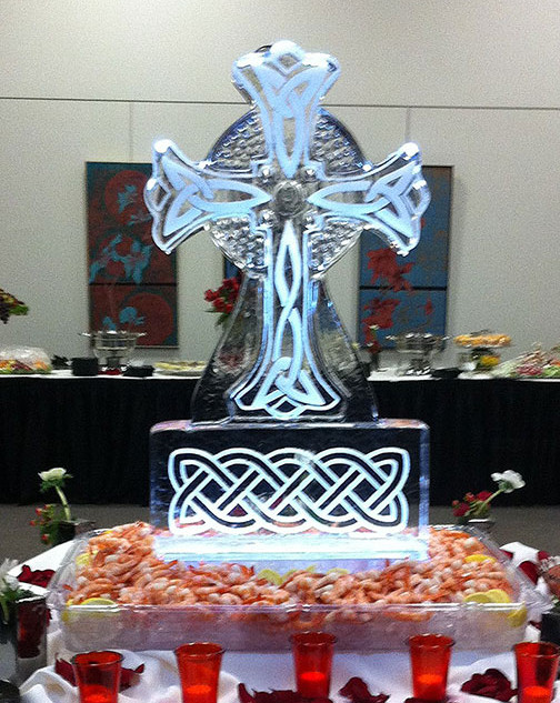 Celtic Cross Food Ice Display