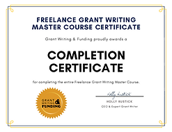 Grant Writing and Funding Completion Cer