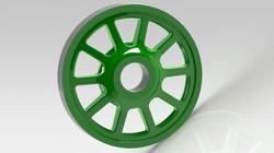 CAD render of the bogie wheel