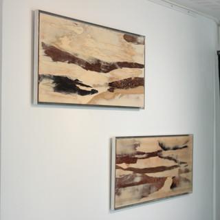 Silence #1 et #2 vue de l'exposition Relief creuser la piste.