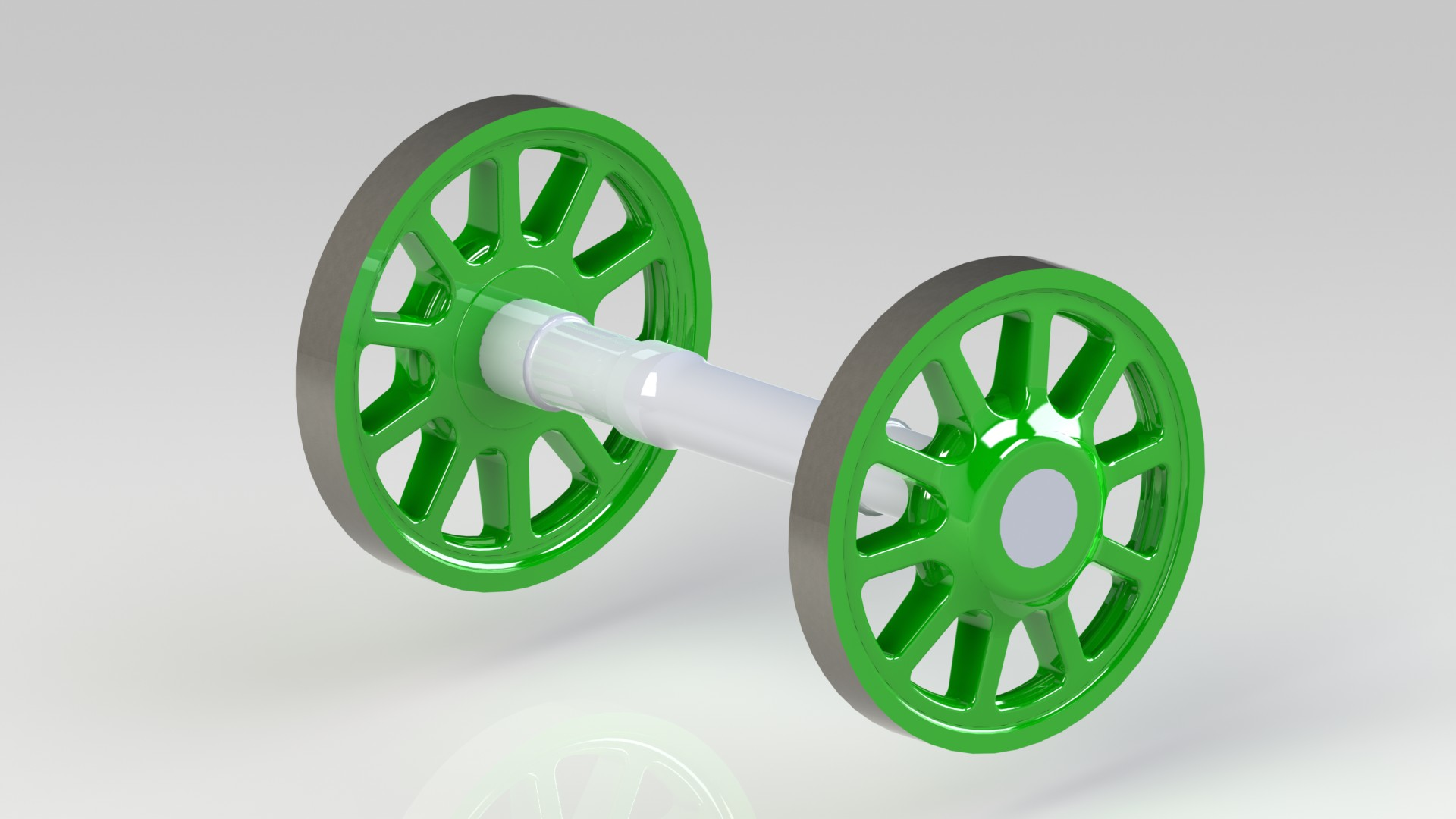 CAD render of the wheels