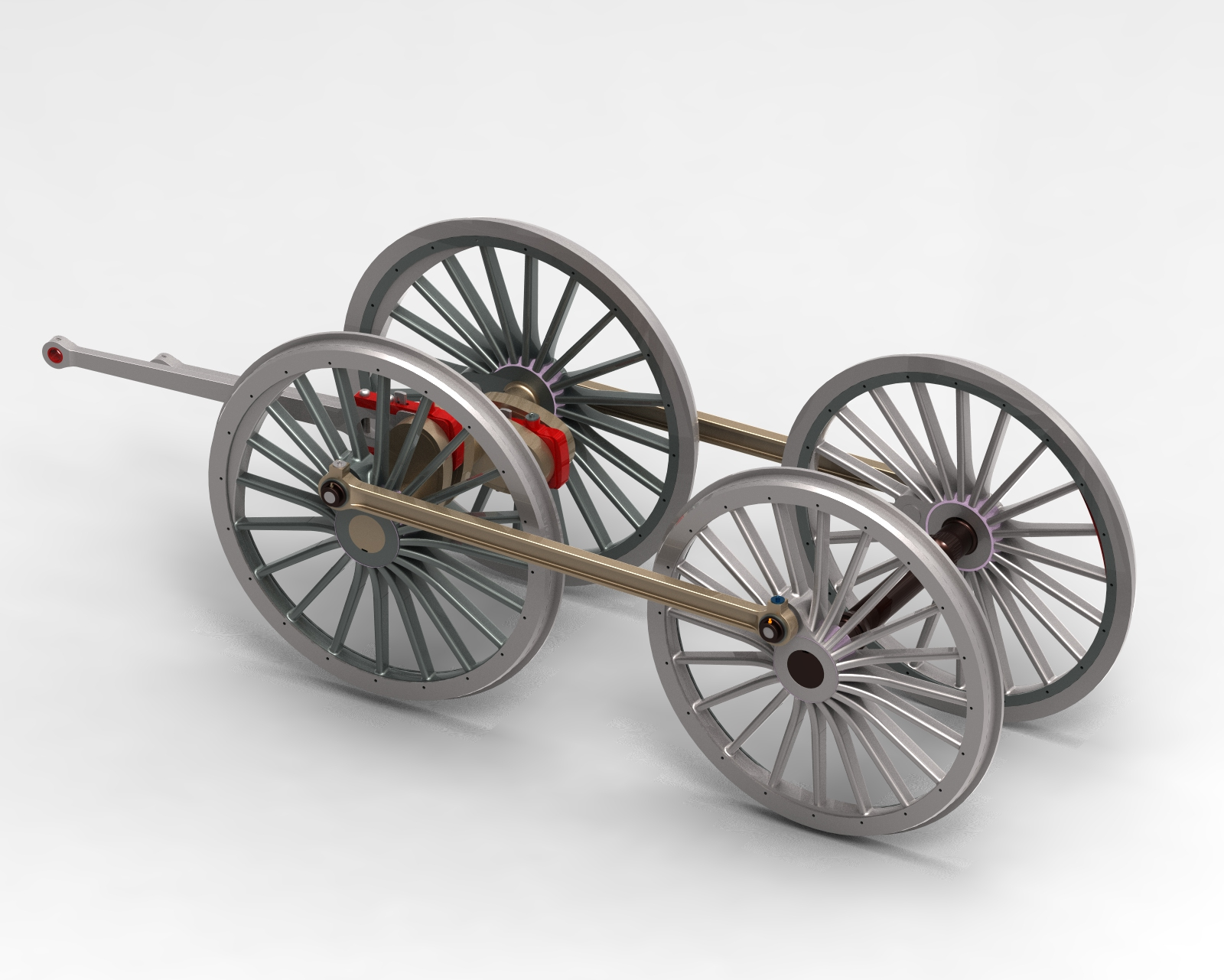 wheels with cranks and con rods