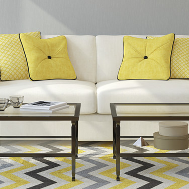 Bacarella Fabrics, Couch With Pillows