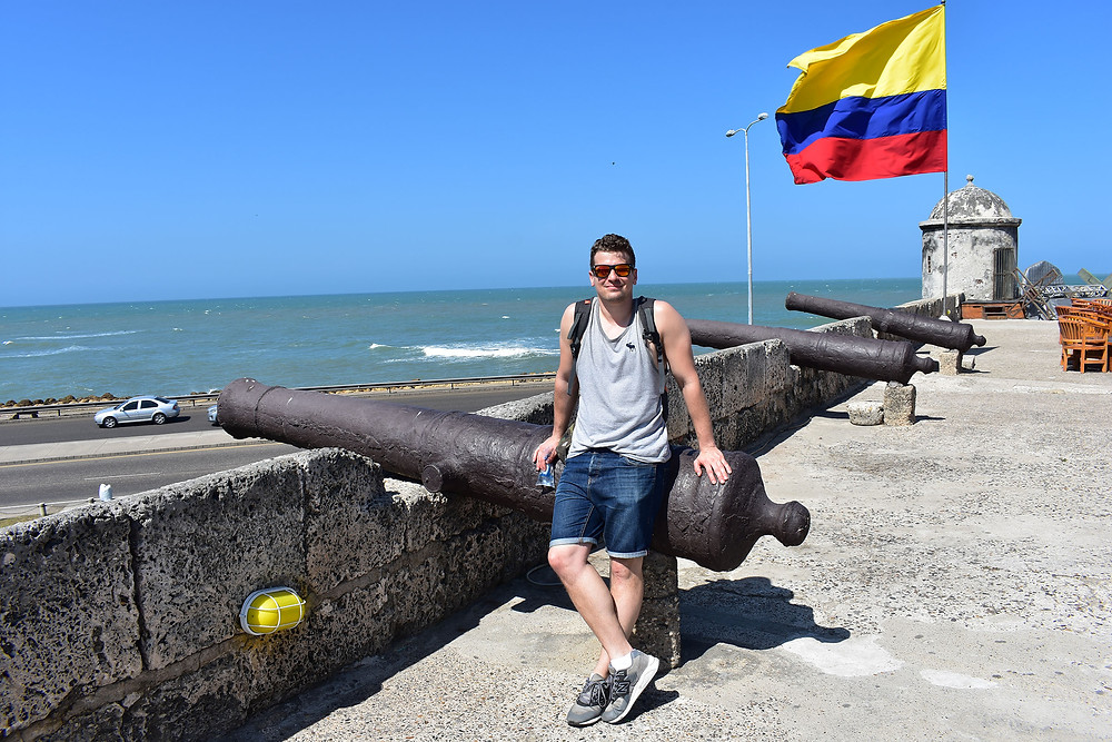 The author in Cartagena