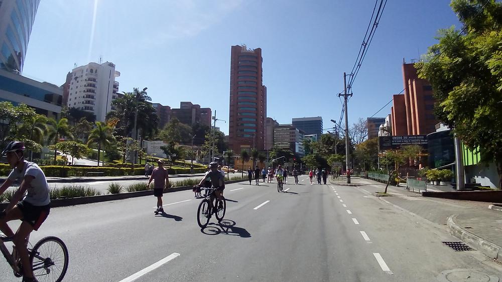 Sunday's Ciclovía in Medellin