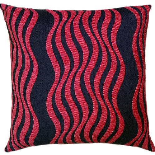 Catch a Wave Navy/Pink Throw Pillow