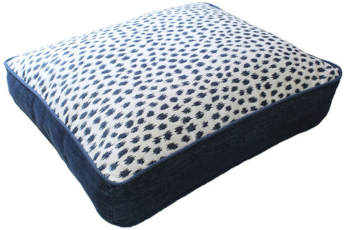 Pebble Beach Indigo Sunbrella Pet Bed