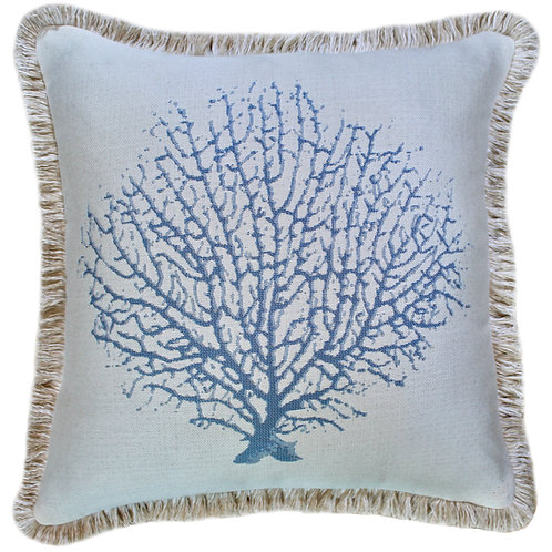 Coral Reef Fringed Pillow