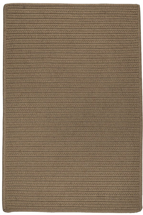 Solids Mushroon Sunbrella Rug 5x7