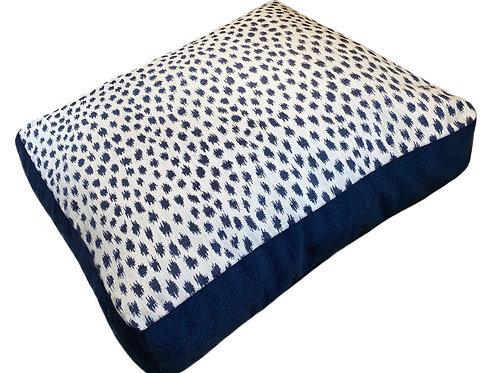 Pebble Beach Indigo Sunbrella Pet Bed