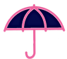 new fabric shoppe logo umbrella navy_edi