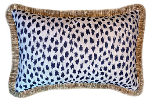Pebble Beach Indigo Fringed Lumbar