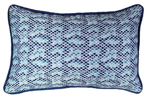 Mosaic Tile Corded 13x20 Lumbar Pillow