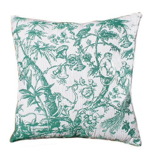 Tropical Toile Emerald 20x20