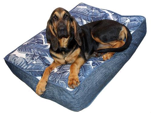 Tropics Indigo Sunbrella Pet Bed