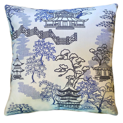 Pagoda Paradise Throw Pillow