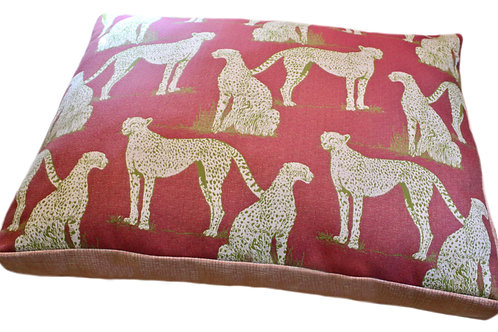Savanna Raspberry Sunbrella Pet Bed