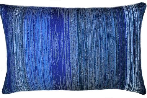 Tidal Indigo Lumbar Pillow
