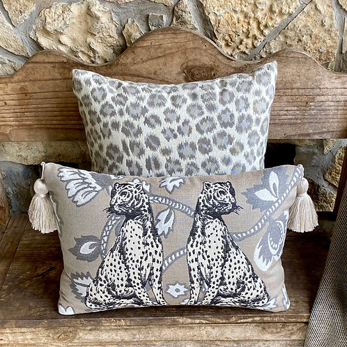 Regal Cats Lumbar Pillow with Tassels