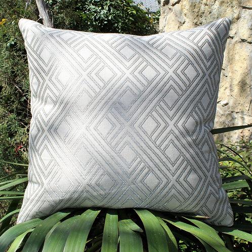 Metalic Weave Pewter 20x20 Pillow