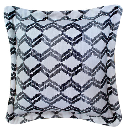 Zig Zag Black Throw Pillow