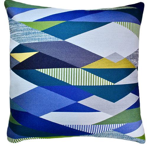 Viewpoint Blue Throw Pillow
