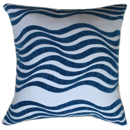 Catch a Wave Turquoise  20x20 Throw Pillow