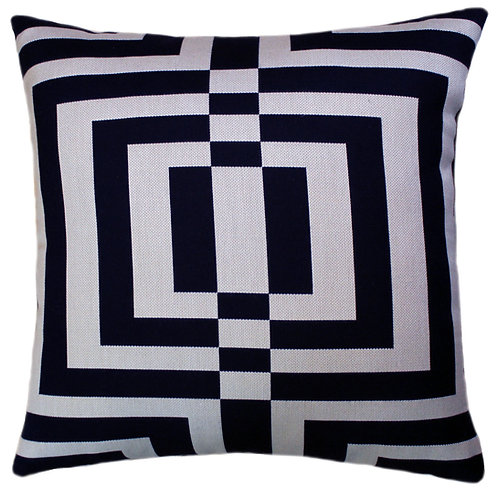 Labrinth Navy Throw Pillow