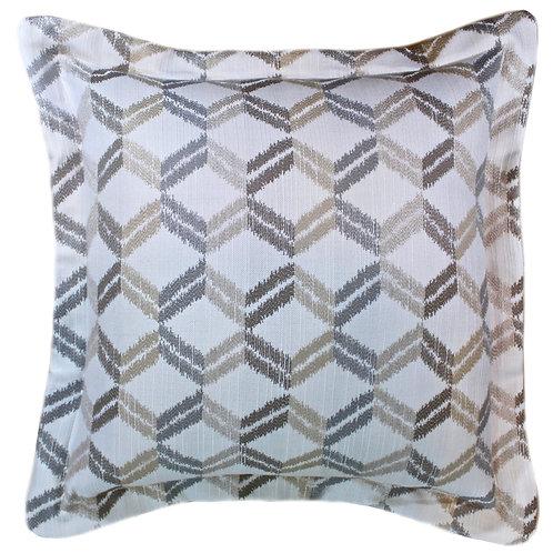 Zig-Zag Sand Throw Pillow