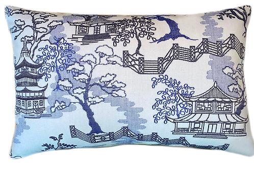 Pagoda Paradise Lumbar Pillow