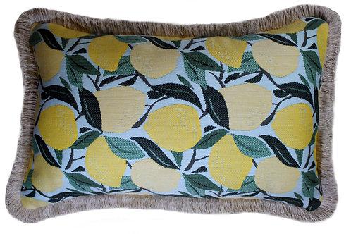 Lemondrop Lumbar Pillow with Fringe