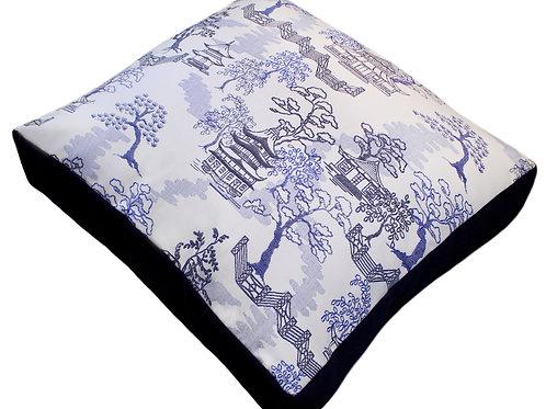 Pagoda Blue Sunbrella Pet Bed