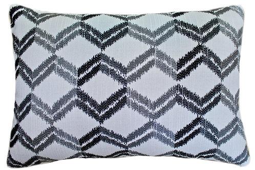 Zig-Zag Black  Lumbar Pillow