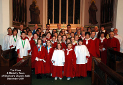 The choir at Christmas