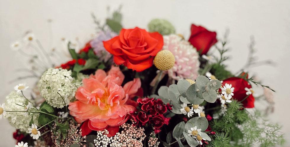 Sombrera con flores naturales ( desde 50€)