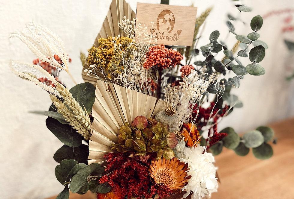 caja con flor preservada pequeña