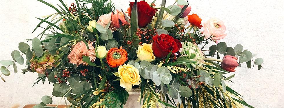 Copa con flores