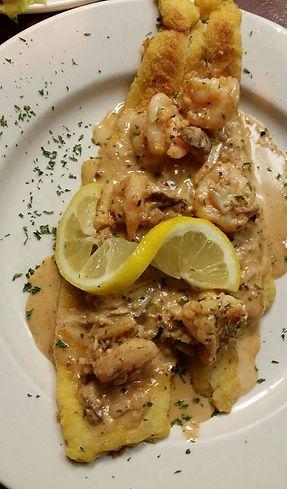 FreshSeafood Flounder Pontchartrain