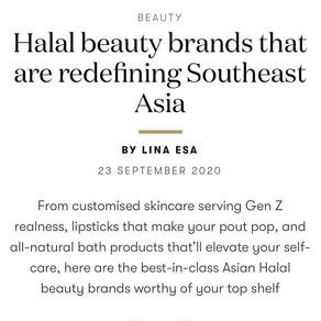 Halal Beauty article for Vogue Singapore