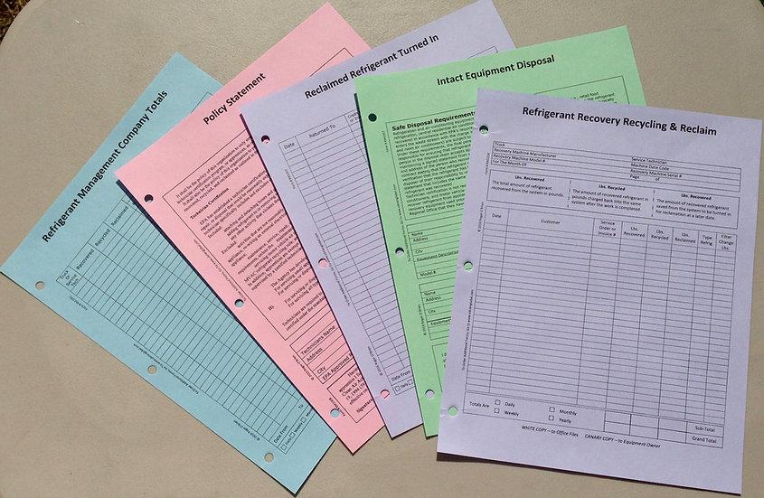 Refrigerant Management Forms