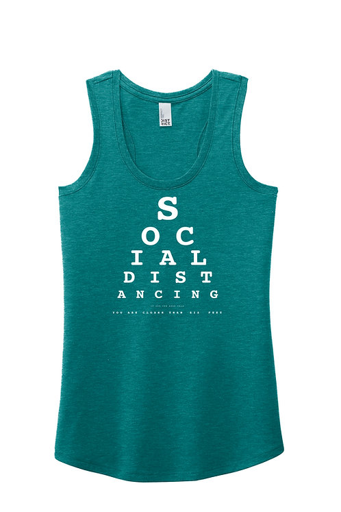 Social Distancing - If you can read this - DM138L District ® Women's Perfect Tri