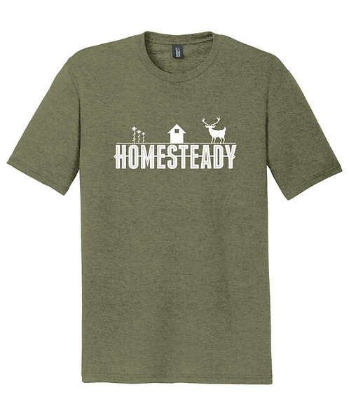 HOMESTEADY CLASSIC LOGO      DM130 District ® Perfect Tri ® Tee