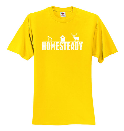 HOMESTEADY CLASSIC LOGO - Original Yellow  -  3930 Fruit of the Loom® HD Cotton™