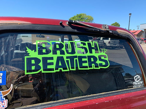 "23"" Brush Beaters Decal"