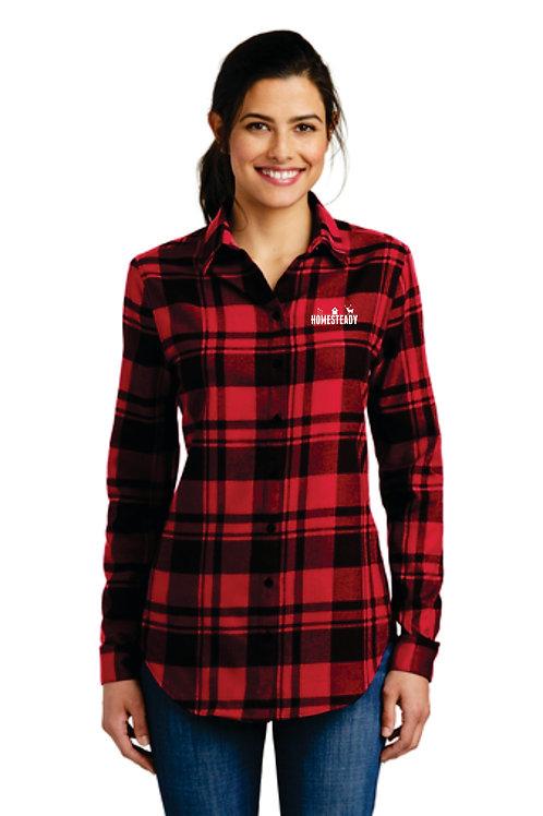 LW668 Ladies Plaid Flannel Tunic