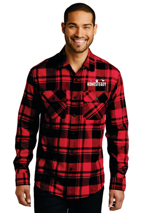 W668 Plaid Flannel Shirt