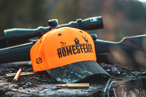 C804 Homesteady Hunter Orange/Camo hat