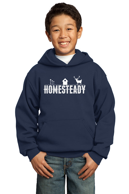 HOMESTEADY KIDS - PC90YHSALE Port & Company® - Youth Core Fleece Pullover Hoodie