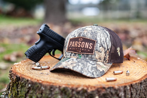 PD Buck Hunters Leather Patch hat